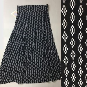 Lularoe Maxi Skirt Aztec Tribal Print Large
